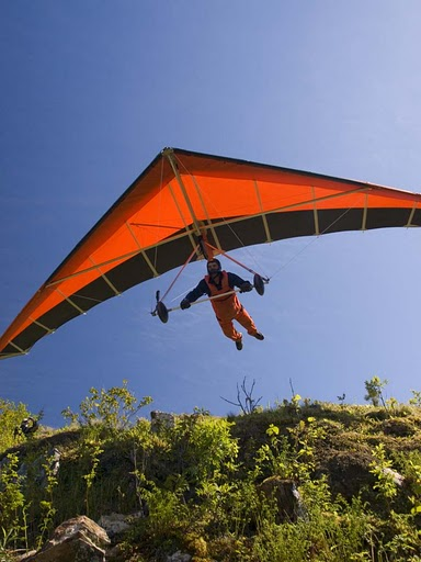 Hang Glider at High Head